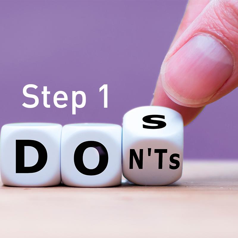STEP 1 Do's and Don'ts: como tirar o melhor proveito do tempo de estudo